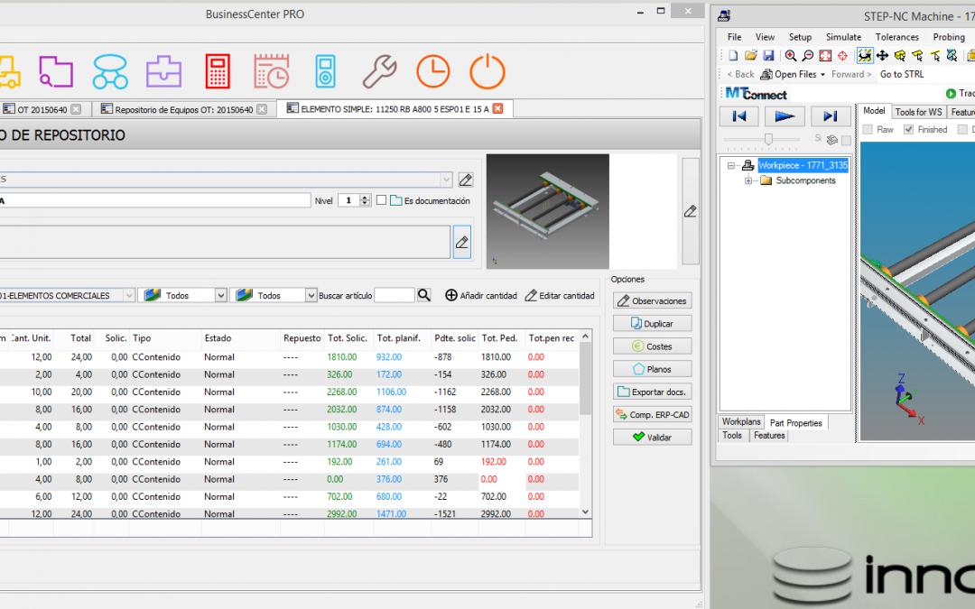 Conectividad ERP-CAD. Nueva funcionalidad